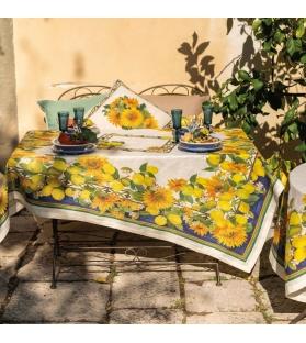 Tovaglia Etruscan garden lino
