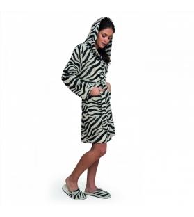 Accappatoio donna in spugna Zebra