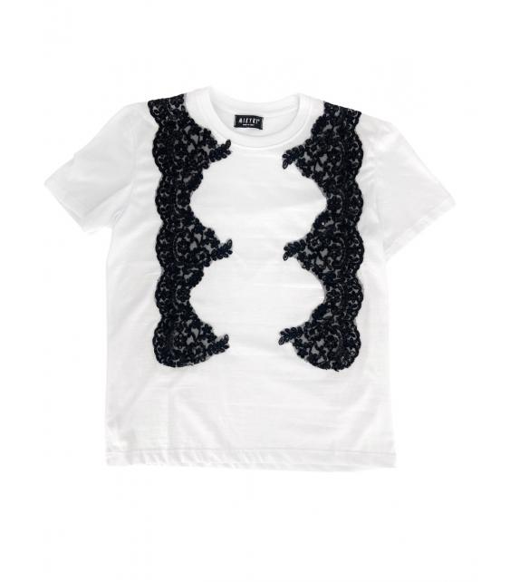 T-shirt Donna pizzo nero