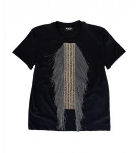 T-shirt Donna frangia grigia