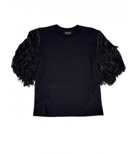 T-shirt Donna paillettes maniche