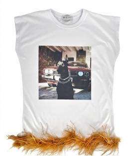 T-shirt Dobermann marabou