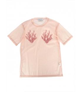 T-shirt rete donna Corallo rosa