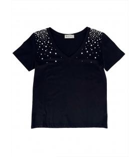 T-shirt Falls donna nera