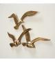Uccelli in Volo Decorazione Muro Metallo Oro L 35cm