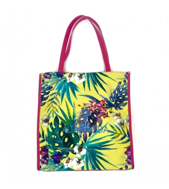Borsa Shopper Yellow Tropical Altamoda