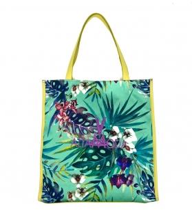 Borsa Shopper Green Tropical Altamoda