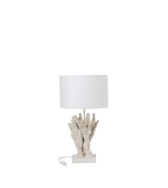 Lampada da Tavolo Corallo Bianco 31x31x55cm