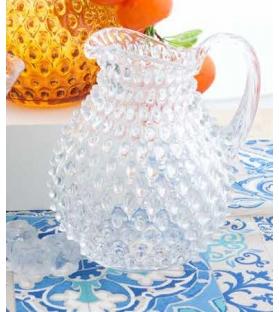 Brocca Riccio 2Lt Trasparente vetro soffiato
