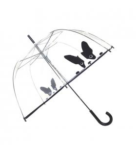 Ombrello donna trasparente Black Dog
