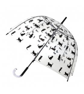 Ombrello donna trasparente Chats Noir