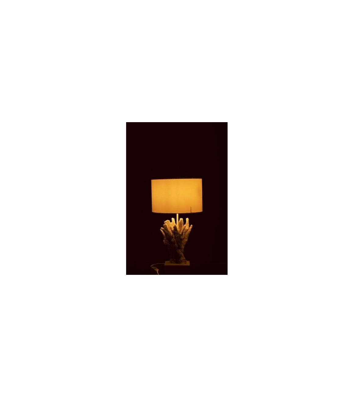 Lampada Da Tavolo Corallo Bianco 31x31x55cm Bekreative