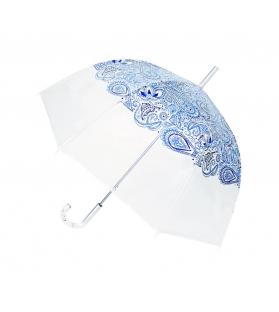 Ombrello donna trasparente Blue Paisley