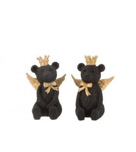 Orso nero con corona e ali - 2 varianti