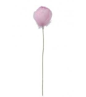 Tulipano Piume Rosa H38 cm