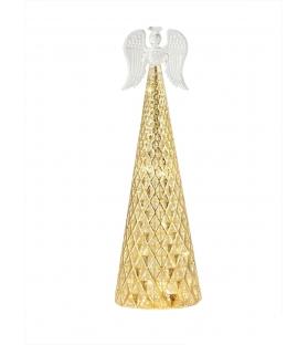Angelo lumiere shiny in vetro con LED h30 cm