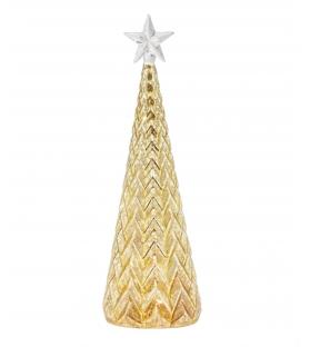 Albero lumiere shiny in vetro con LED h27 cm
