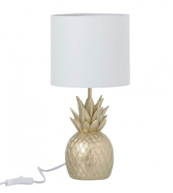 Lampada da Tavolo Ananas Oro 18x18x38cm
