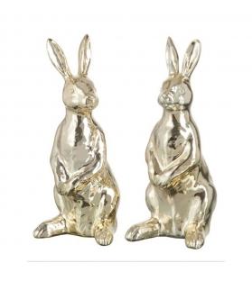 Coniglio Gold Rabbit Oro Resina H20 cm