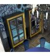 Credenza ARISTOCRAT Ante a Specchio Foglia Oro 123X206X39 cm