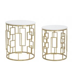 Coppia tavolini Cube piano marmo