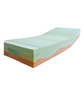 Materasso 3 Strati Bio singolo 80x190 cm con cover a scelta