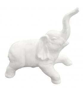 Elefante Indiano Ceramica Bianca Decorativo H23 cm