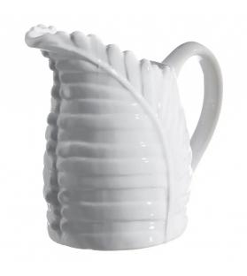 Brocca Foglia Bianca Ceramica 25 X 14,50 X 22 CM