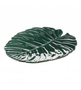 Vassoio Piatto Foglia Tropical Verde Scuro 29 X 26,40 X 2,60 CM