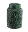 Cachepot Tibor Contenitore Foglie Verde Scuro Ceramica 17,50 X 17,50 X 25,50 cm