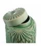 Cachepot Tibor Contenitore Foglie Verde Chiaro Ceramica 17 X 17 X 21 CM