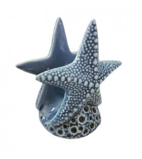 Porta Tovaglioli Stella Marina Blu Mare Portatovaglioli stella marina in porcellana blu mare 13 x 11 x 8 cm