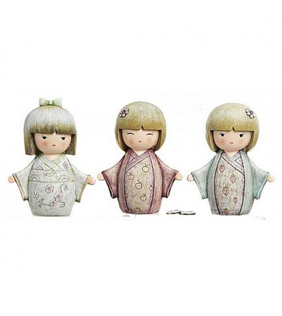 Bambola Geisha Giapponese Salvadanaio - 3 modelli assortiti
