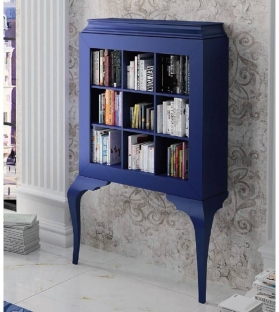 Libreria Muscary 2 Gambe Blu Notte Opaco 135x207x38.5 cm