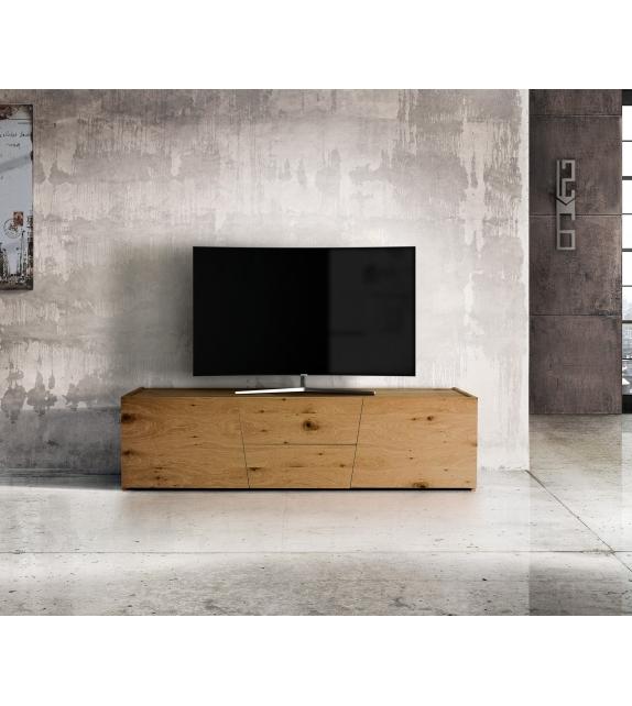 Porta TV Rovere nodato spazzolato cm. 165×45 H.45