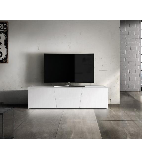 Porta TV Abete bianco spazzolato cm. 165×45 H.45