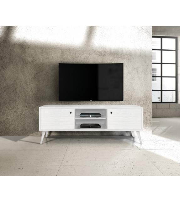 Porta TV Abete bianco spazzolato cm. 160×45 H.55