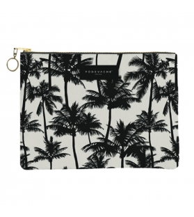 Pochette Tropical Black&White con zip L22xH15xP1.5cm