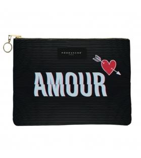 Pochette Amour con zip L22xH15xP1.5cm