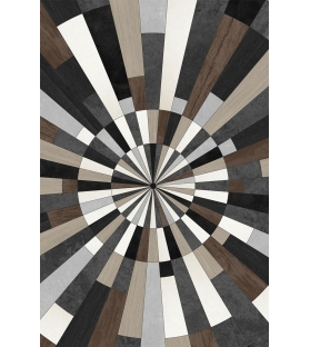 Tappeto in vinile Wood Star 99x150 cm