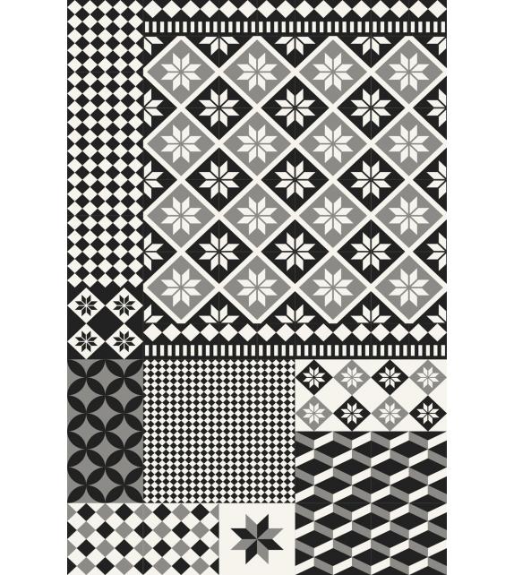 Tappeto in vinile Maiolica B&W 99x150 cm
