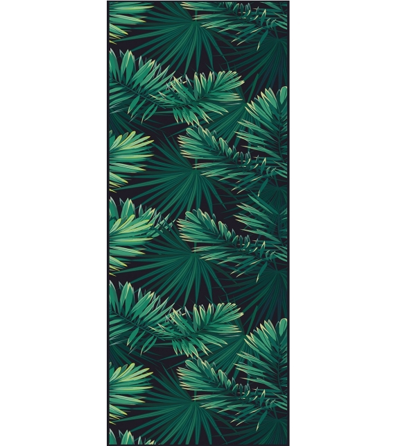 Tappeto in vinile Black Tropical 99x198 cm