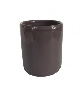 Bicchiere cilindro s/manico color grigio scuro