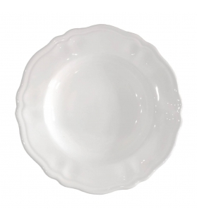 Piatto fondo sim cm. 25 elegance bianco