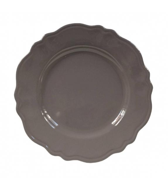 Piatto piano sim cm. 25 elegance grigio scuro