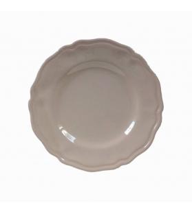 Piatto Piano Piccolo Ceramica cm. 20 elegance tortora