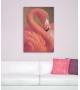 Stampa su Tela Flamingo con applicazioni 80X3,8X120