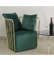 Poltrona Luxury Verde Glam Gold 66X67X68