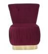Poltrona Lady Bordeaux & Gold 60X55X79