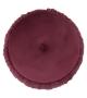 Pouf Plissè Contenitore Bordeaux Ø 41x41 cm